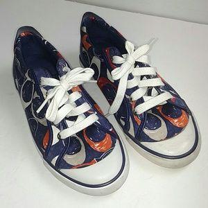 Coach Barrett Blue, orange and Gray Sneakers